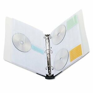 Innovera Cd dvd Three ring Binder Bndr Cd dvd 90cap Asst Gn9350e pack Of8