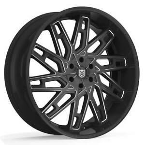 Dropstars 656bm Wheel Rim Black Milled 26x10 6x5 5 6x139 7 30mm