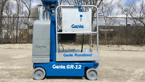 2006 Genie Gr 12 2wd Personal Runabout Manlift Boom Vertical Work Platform Lift