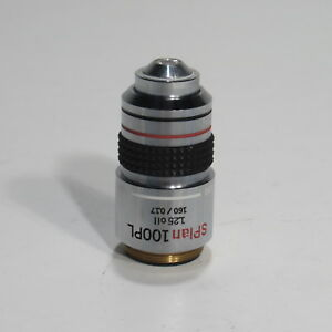 Olympus Splan 100pl 1 25 160 0 17 Phase Contrast Microscope Objective 100x
