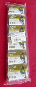 Six 6 Pair Of Hyflex 11 531 Ansell Ultralight Cut Resistant Gloves Size 10