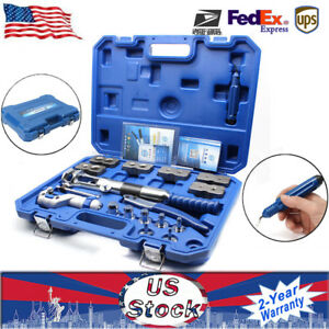 Us Hydraulic Pipe Expander Set Fuel Line Flaring New Tools Cutter Scraper New