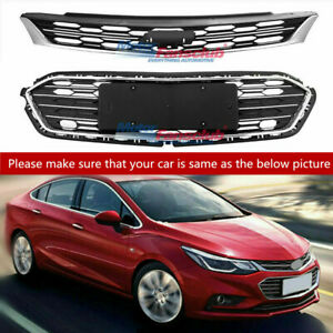 Front Bumper Upper Grill Middle Lower Grill For Chevrolet Cruze 2016 17 2018