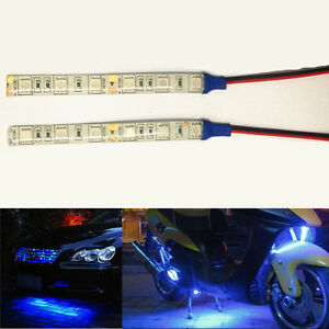 For Motorcycle Waterproof Ip65 Car Flexible 6smd Led Strip Light Bulb 10cm Blue