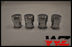 Qty 4 Four Chrome Tire Caps Covers For Valve Stems Complete New Set