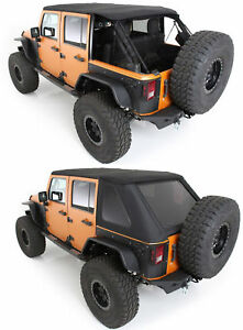 Prot3k Triple Bowless Soft Top Tint Windows 07 18 For Jeep Wrangler Unlimited