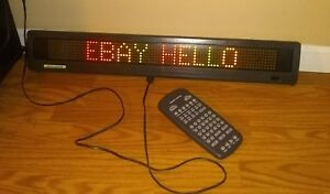 Beta Brite Electronic Led Color Message Display Remote Power Cord And Books