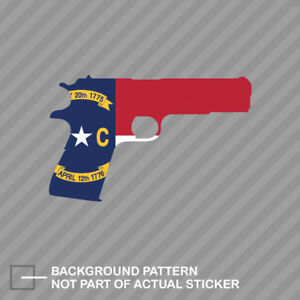 North Carolina Flag 1911 Sticker Decal Vinyl Nc 2a Gun Rights Molon Labe Pro
