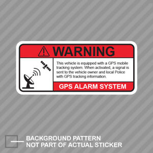Gps Anti Theft Vehicle Security Warning Alarm Sticker Decal Vinyl