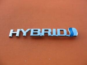 07 08 09 Toyota Prius Hybrid Left Fender Chrome Emblem Logo Badge Sign Oem Lh 5