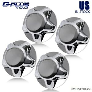 4pcs Center Hub Cap Chrome With 7 Cap Replacement For 1997 2004 F150 Expedition