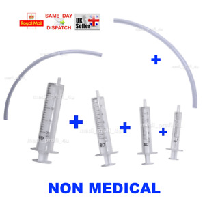 1x 10x Mix Of 2ml 5ml 10ml 20ml Syringe 20cm Tube Liquid Dispension