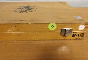 Model m 1 061 250 minus pin plug gauge set with wooden case