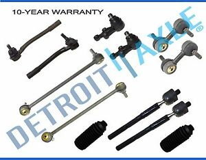 2007 2008 For Hyundai Entourage Front Rear Sway Bar Link Tie Rod Boot 12pc Kit