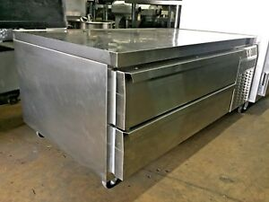 Continental Refrigerator Dl60g 60 Two Drawer Refrigerated Chef Base