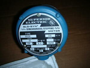Superior Electric Slo syn Ss150 Synchronous Stepping Motor 120v 150oz in Nos