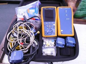 Fluke Networks Dtx 1800 Cable Analyzer With Smart Remote Cat6e fiber Tester