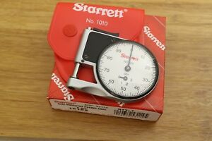 Starrett 1010z Dial Indicator Pocket Thickness Gage Gauge 0 0 375 0 001