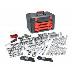 Gearwrench 80940 219 Pc Mechanics Tool Set In 3 Drawer Storage Box New