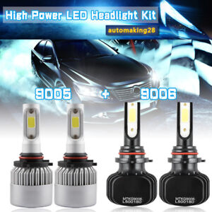 9005 9006 Led Headlight Bulbs For Jeep Grand Cherokee 1999 2007 High Low Beam Us