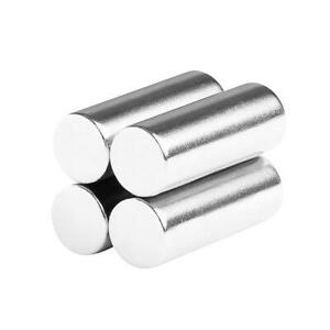 3 8 X 1 Inch Strong Neodymium Rare Earth Cylinder Magnets N52 4 Pack