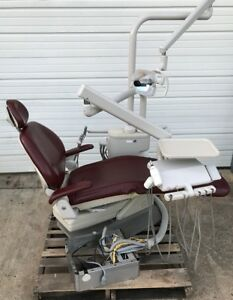Adec 1021 Decade Dental Operatory Package Burgundy Factory Upholstery 6300 Light