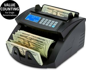 Bill Money Counter Cash Currency Count Counting Counterfeit Detector Machine
