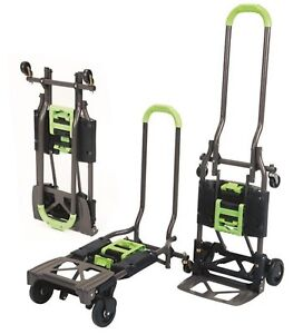 Folding Hand Truck Utility 300 Lb Cart Dolly Trolley Foldable Rolling Portable