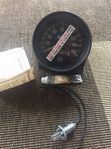 Vintage Stewart Warner 160 Mph Mechanical Speedometer Bluelight Sw Tach