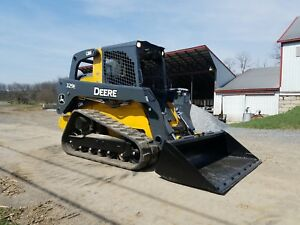 2014 John Deere 329e Compact Tracked Loader Diesel Engine Hydraulic High flow