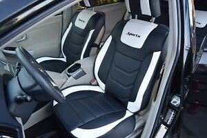 Volkswagen Cc Custom Seat Covers Pu Leather White red And Black