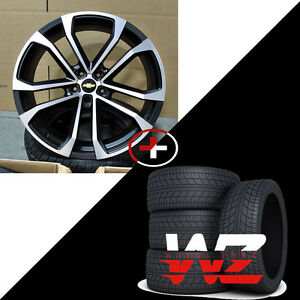 22 41 Cv09 5547 Style Black Machined Rims W Tires Fits Chevy Camaro Zl1 Ls 35