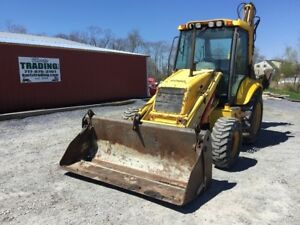 2005 New Holland Lb75 b Tractor Loader Backhoe W Cab Extenda Hoe Coming Soon