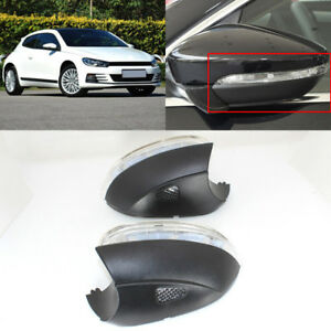 Turn Signal Light Side Mirror Assemble Indicator W Puffle Lamp For Vw Scirocco