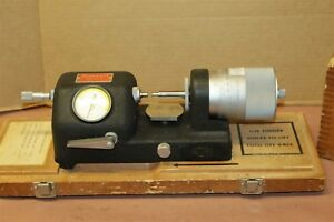 L S Starrett 673 Bench Inspection Micrometer With Wood Case