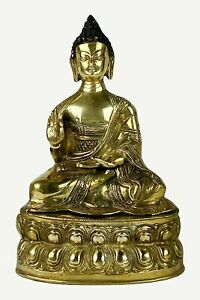 Bronze Large Meditation Buddha Statue Fair Trade Nepal 6 0 X 12 0 Inches 8 Lb