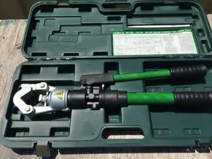 Greenlee Hk12id Hand Hydraulic Dieless Crimping Tool Compression Crimper