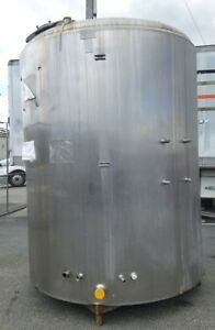 Used 2 000 Gallon Stainless Steel Jacketed Tank Dome Top Slope Bottom