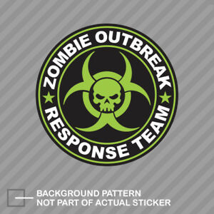 Green Zombie Outbreak Response Team Sticker Decal Vinyl Hunting United States