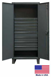 Steel Cabinet Commercial industrial Shelves Drawers 1 8 78 H X 24 D X 36 W