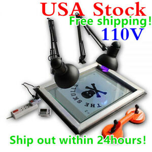 Us Uv Exposure Unit Screen Printing Plate Making Silk Screening Diy 20 X 24