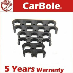 6pcs Universal Plastic Spark Plug Wire Separators Dividers Looms Black 7mm 8mm
