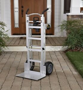 Heavy Duty Moving Dolly Aluminum Assisted Hand Truck Lift Flat Free Cart Wheels