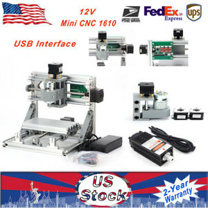 Diy Mini Mill Engraving Machine Usb Cnc Router Laser Pcb Grbl Control 500mw 12v