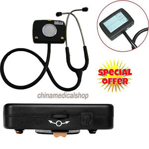 Lcd Digital Visual Stethoscope Ecg Pulse Rate Heart Rate Spo2 Monitor Functional