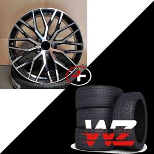 22 1349 Style Wheels Black Machine With Tires Fits 2017 And Audi Q7
