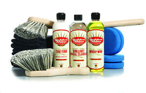 Golden Shine Car Care Wheel And Tire Detailing Kit W Brushes And Towels Gs wtc