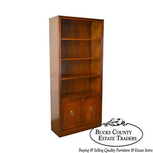 Sligh Vintage Cherry Wood Cabinet Tall Open Bookcase