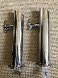 2 16 Single Tap Steel Draft Beer Stainless Chrome Faucet Tower Kegerator