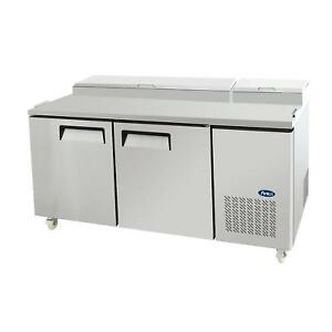 Atosa Mpf8202 67 Double Section Refrigerated Pizza Prep Table